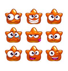 Funny cartoon orange jelly monster vector