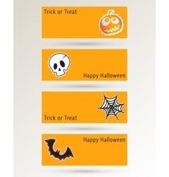 Halloween website banner vector image