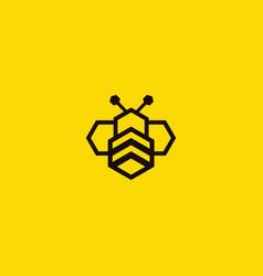 Hexa bee logo vector