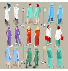 Hospital 21 People Isometric vector
