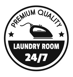 Laundry room 24 hours logo simple style vector