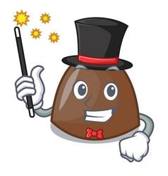 magician chocolate candies mascot cartoon vector image