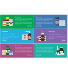 Medication and pharmacy poster vector