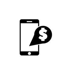 mobile banking payment with smartphone flat icon vector image