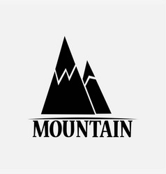 mountains isolated on a white backgrounds vector image
