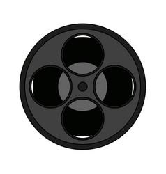 Movie film reel icon vector