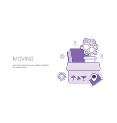 moving house to new apartment template web banner vector image