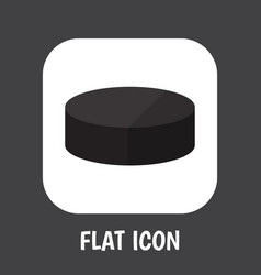 of sport symbol on puck flat vector image