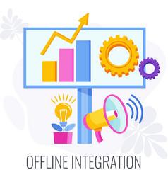 Offline integration integrate offline and online vector