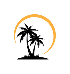 Palm tree graphic design template isolated vector