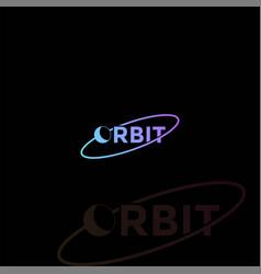 Planet earth moon orbit text font type typography vector