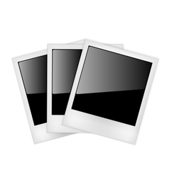 Polaroid photo frames vector image vector image