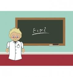 professor blackboard vector image vector image
