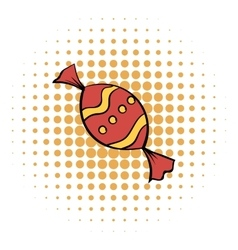 Red sweet comics icon vector