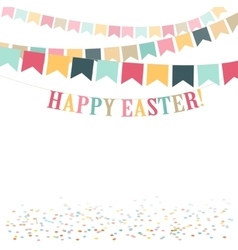 Retro minimal Happy Easter Day cute flat vector image