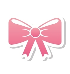 ribbon wedding icon vector image