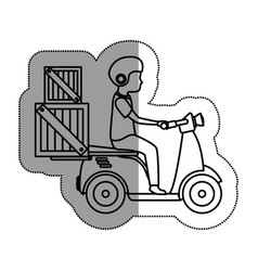 scooter vehicle isolated icon vector image