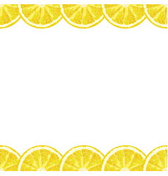 Seamless decorative border of lemon slices vector