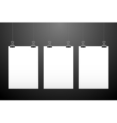 Set of hanging papers vector image
