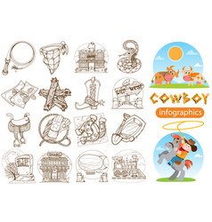 set of of for coloring on the theme of the wild vector image