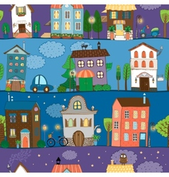 Several colorful and cute house designs vector