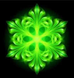 Snowflake fair Green 01 vector