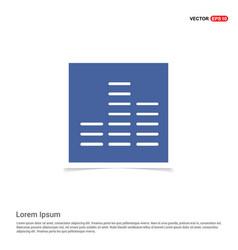 Sound beats icon - blue photo frame vector