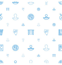 Stamp icons pattern seamless white background vector