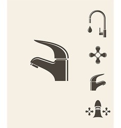 Stylized faucet vector