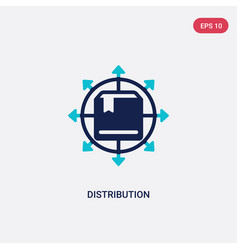 Two color distribution icon from digital economy vector