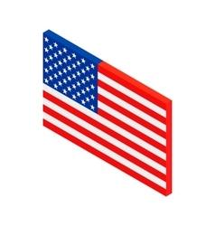 USA flag isometric 3d icon vector image