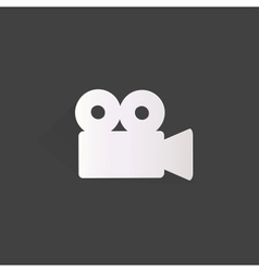 Videocamera web icon flat design vector