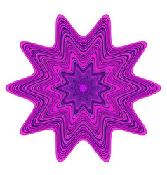 Violet and purple abstract star vector