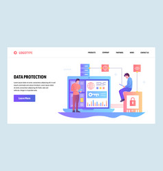 Web site gradient design template data vector