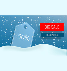 winter big sale concept background realistic vector image