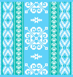 Winter pattern in ethnic style vector