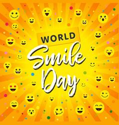 world smile day beam yellow banner vector image