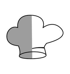 Hat chef uniform cook kitchen shadow vector