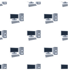 locked computer icon in cartoon style isolated on vector image