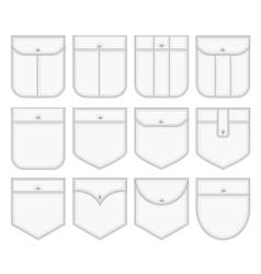 Shirt pockets vector image