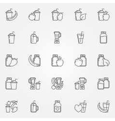 Smoothie icons set vector image