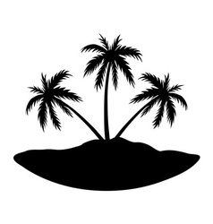 Three palms island vector image vector image