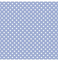 Tile white polka dots on blue background pattern vector image vector image