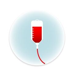 Saline IV drip bag medical icon vector image