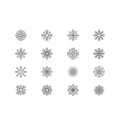Snowflake icons 4 vector image vector image