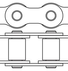 Bike chain vector image