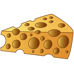 cheesy slice vector image vector image