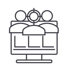 digital marketing line icon sign vector image vector image