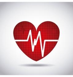 heart cardio pulse icon vector image