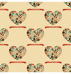Hipster Love Colorful Seamless Pattern vector image vector image